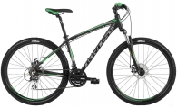 "Велосипед Kross Hexagon 4.0 29er Black Graphite/Green ""18"